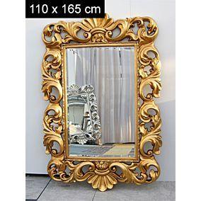 Grand Miroir De Style Baroque Bordeaux Cadre Dore Miroir