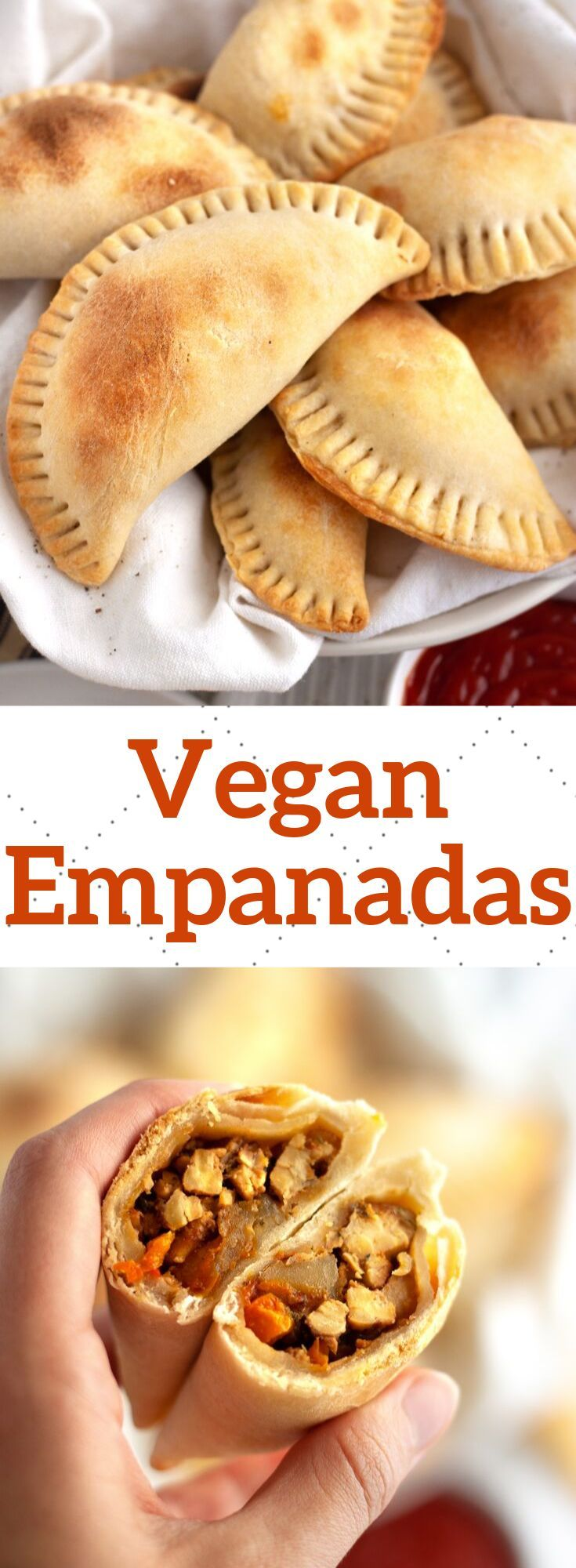 Baked and healthier crispy vegan empanada recipe filled with potatoes, peppers Baked and healthier crispy vegan empanada recipe filled with potatoes, peppers, ... -