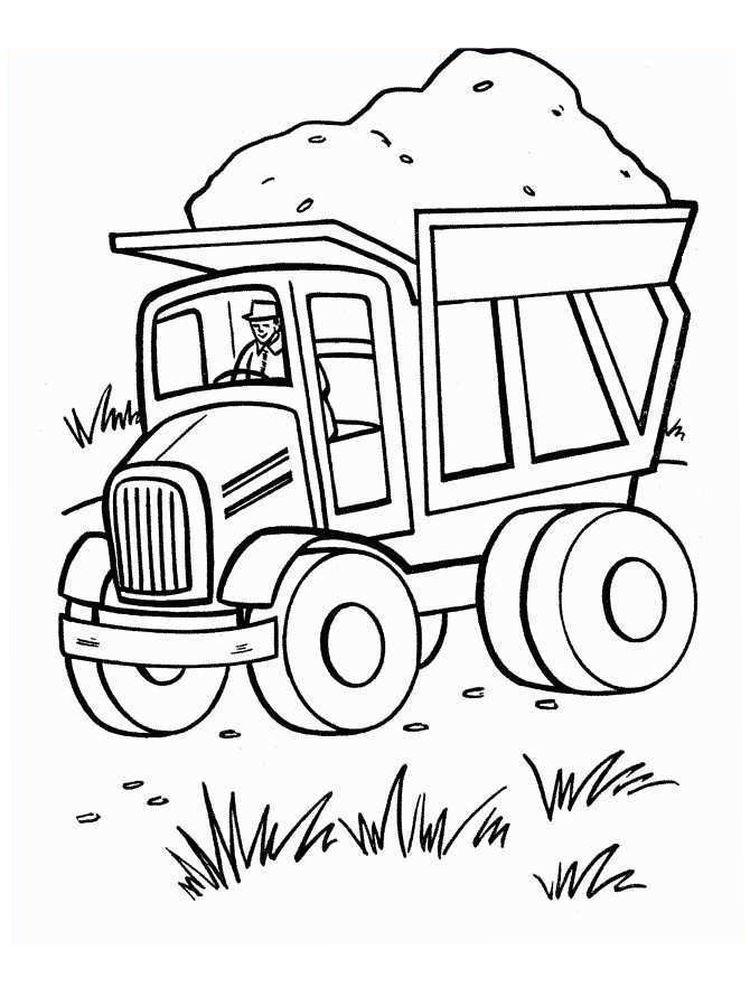 Pin By Crayonandfun On Malarbilder Tractor Coloring Pages Truck Coloring Pages Cars Coloring Pages