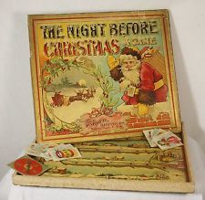 Antique Rare Parker Brothers Board Game The Night Before Christmas ...
