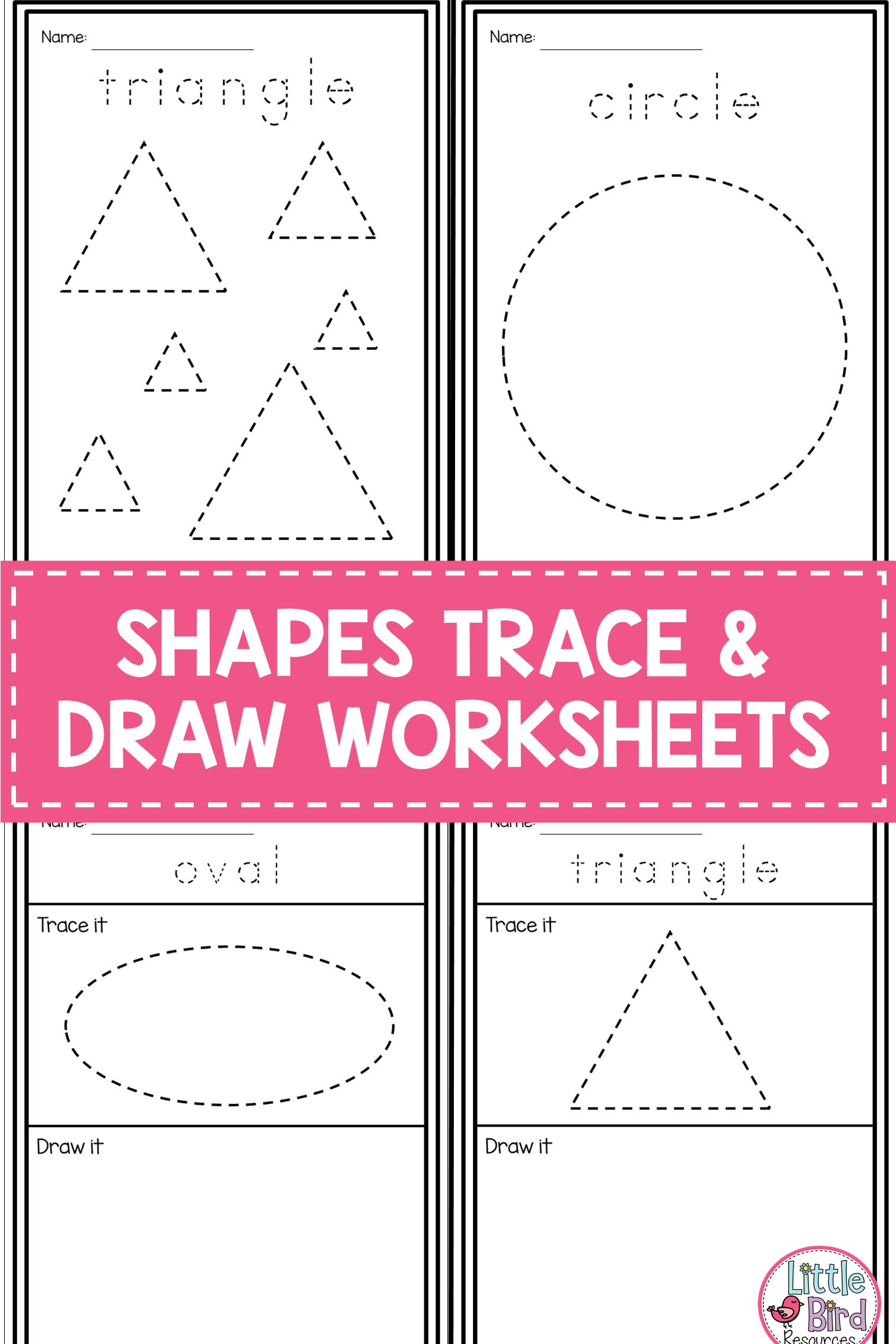2d Shapes Worksheets Tracing Shapes Drawing Shapes 18 Shapes 54 Worksheets Shape Tracing Worksheets Shapes Worksheets Tracing Shapes [ 2268 x 1512 Pixel ]