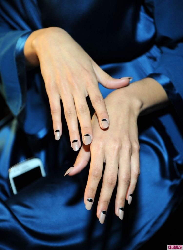 NYFW Fall 2013 Nail Trends - Celebuzz reverse 1940s manicure and ...