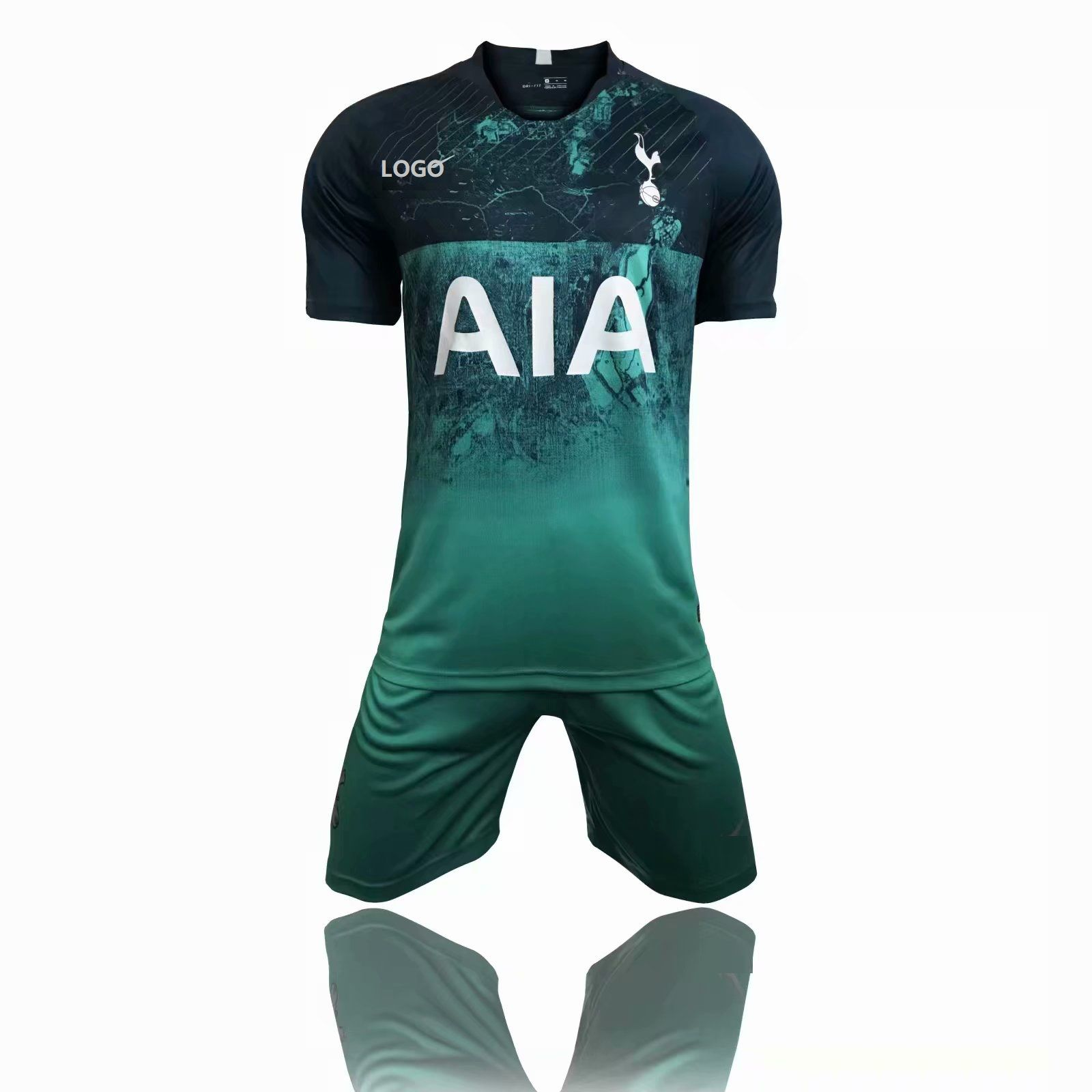 faa06f3d 2018/19 Adult Hotspur Green Third Away Soccer Jersey Uniform Men 3rd  Football Kits Custom Name Number