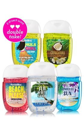 Tropical Fun 10 Pack Pocketbac Sanitizers Bath Body Works