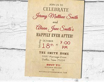 Vintage Rustic Happily Ever After Invitation