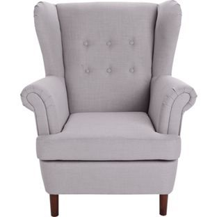 Buy Martha Fabric Wingback Chair   Grey At Argos.co.uk, Visit Argos