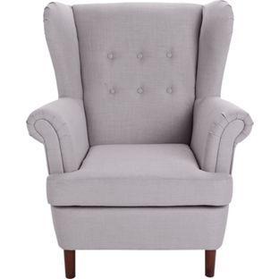 Martha Fabric Wingback Chair Grey At Argos Co Uk Visit