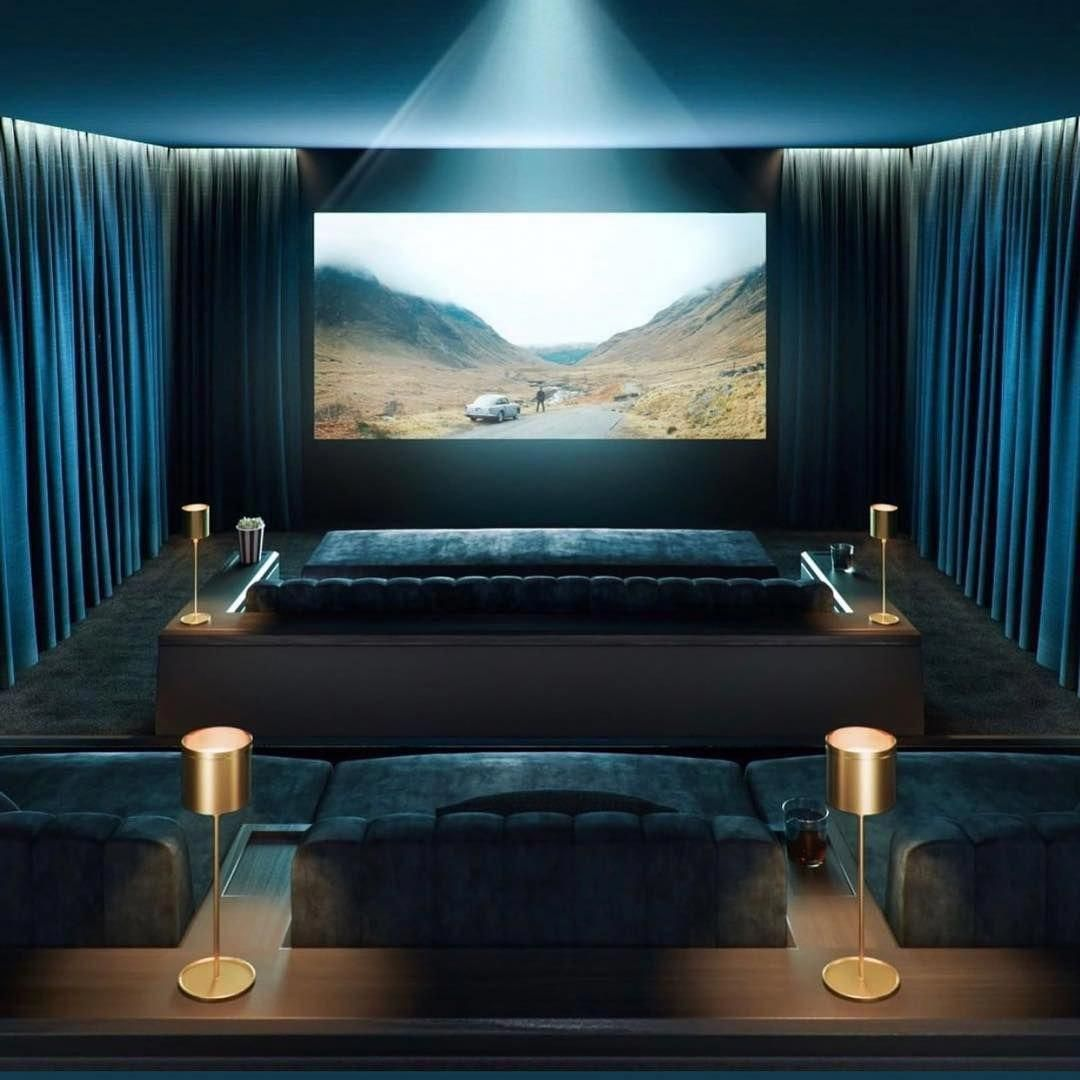Home Theater Interiors Small Home Theater Room Design: Set Up With High-end Home Theater Speakers