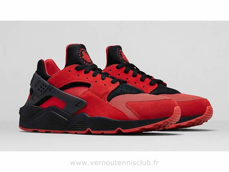 san francisco 575a0 7c152 Nike Air Huarache Homme Love  HateQS University Red Black
