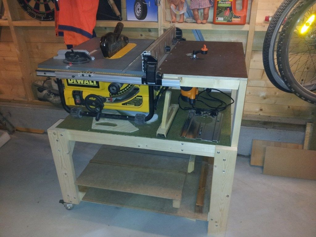 Erfaringer Med Dewalt Dw745 Bordsag Med Rullestativ Diy Table Saw Table Saw Station Dewalt