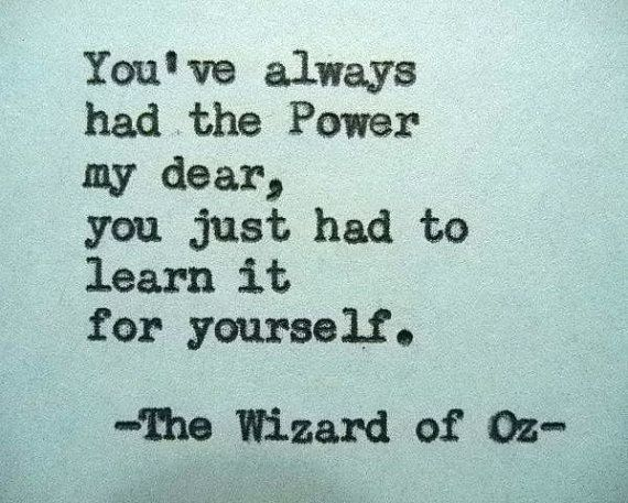 WIZARD Of OZ Quote Typewriter Quote On Card Stock Paper