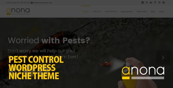 Anona Pest Control WordPress Theme Pest control, Pests