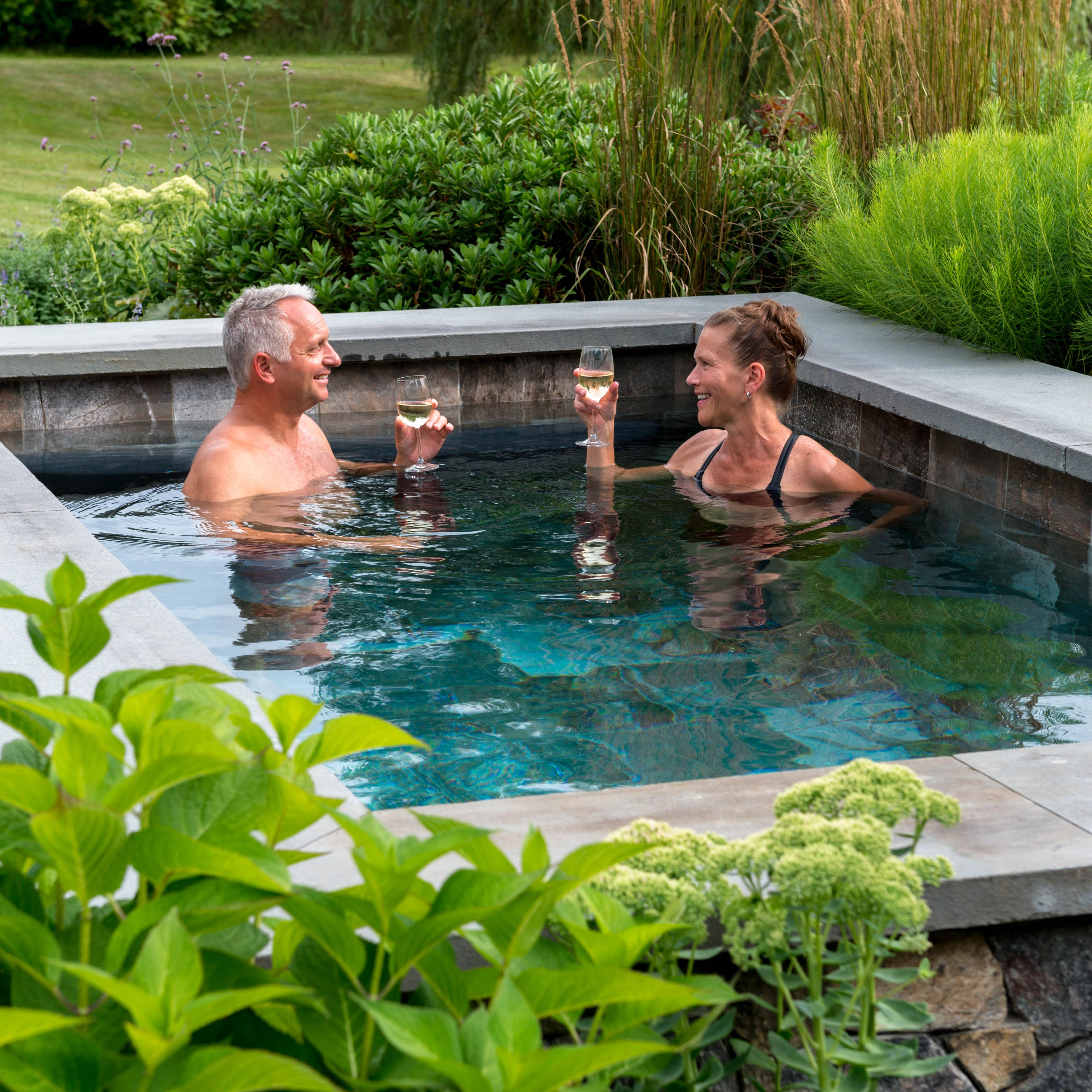 Clink🍷Enjoy a relaxing evening in a Soake pool in the comfort of your own backyard Photo by John W. Hession