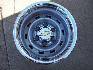 Chevy Truck 4x4 or 2WD 15X8 Steel Wheels 6 Lug Rally Steel Wheels ...
