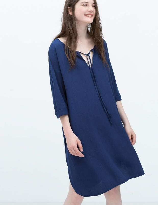 Façon kaftanRobe en coton, Zara, 29,95€