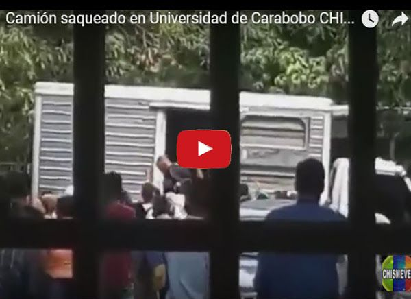Camión saqueado en Universidad de Carabobo  http://www.facebook.com/pages/p/584631925064466