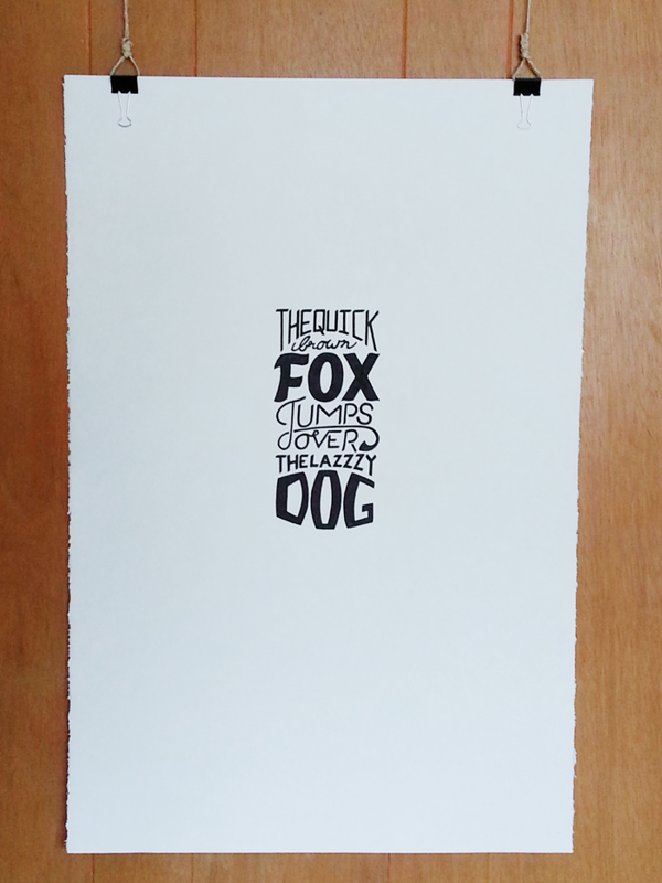 The Quick Brown Fox - Lettering by Jon King, via Behance