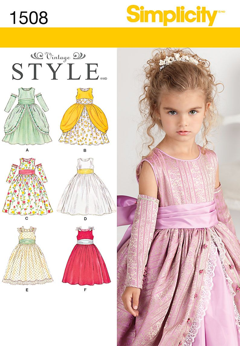 70aa888d3e2 Simplicity Child's Special Occasion Dress 1508 | K Sewing ...