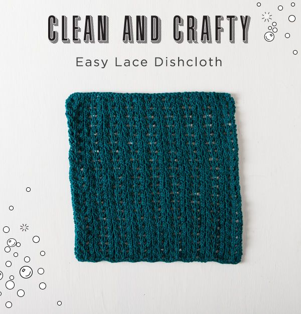 Free Easy Lace Dishcloth Pattern Knit Picks Blog Patterns And