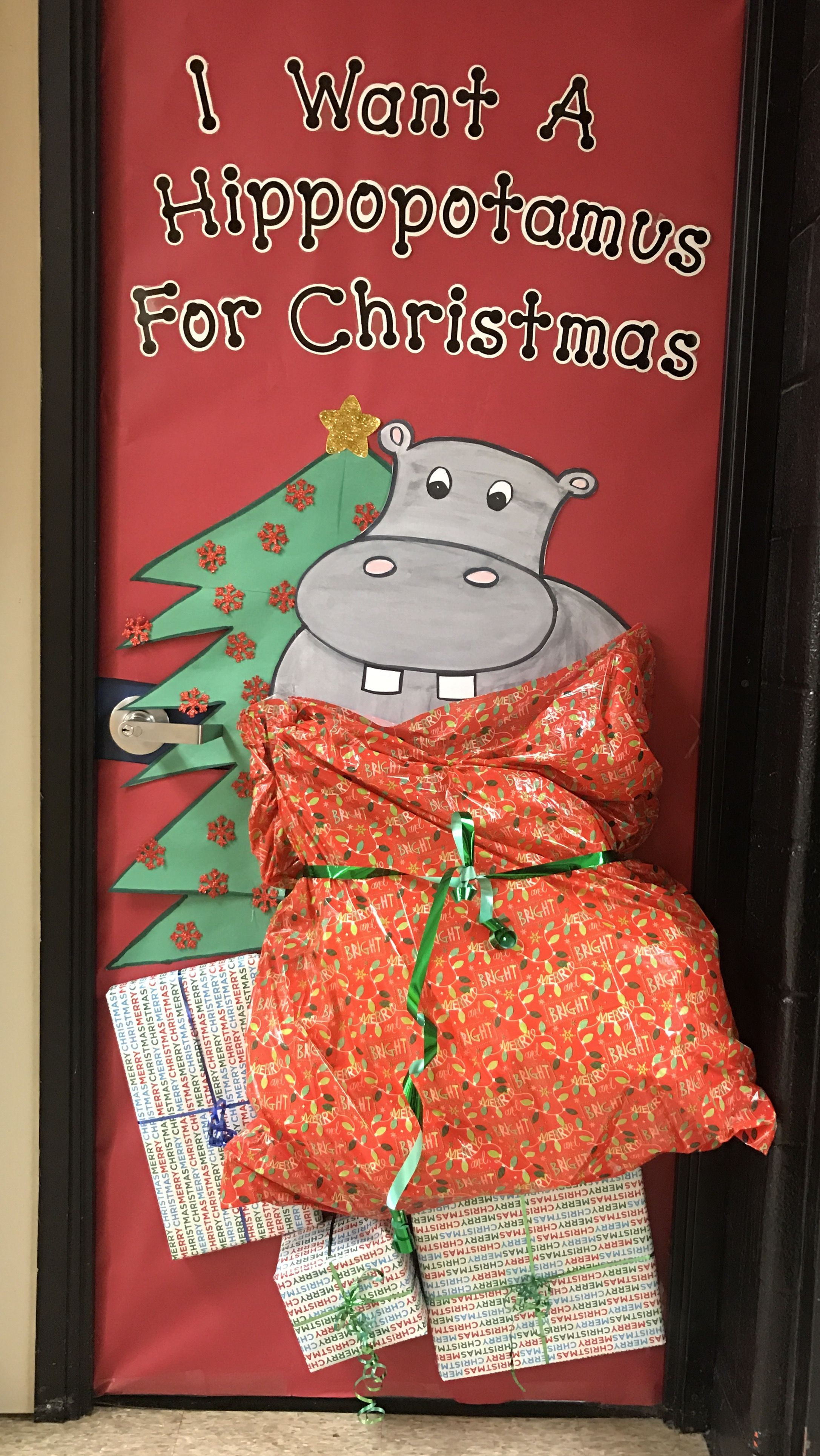We Drew Song Titles For The Christmas Door Decorating Contest I Got My Favorite I D Christmas Door Decorating Contest Door Decorating Contest Christmas Door