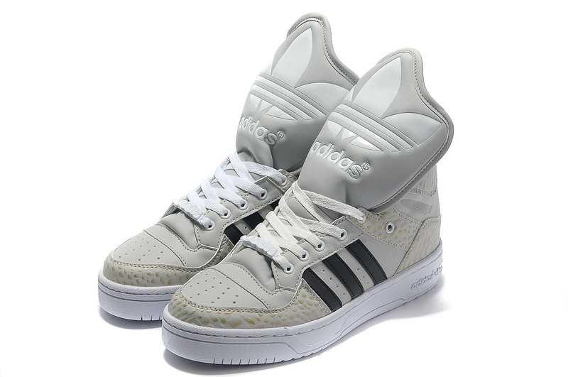 Buy 2013 New Adidas X Jeremy Scott Big Tongue Shoes Khaki Black Fashion  Shoes Store