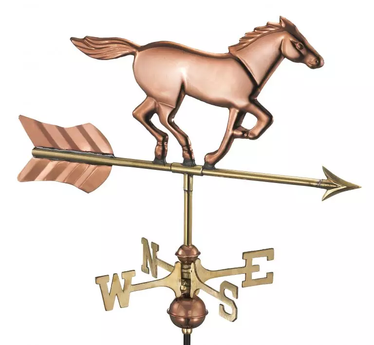 Horse Cottage Weathervane Pure Coppers Only 162 50 Cupolas N More Garden Poles Copper Roof Weathervanes