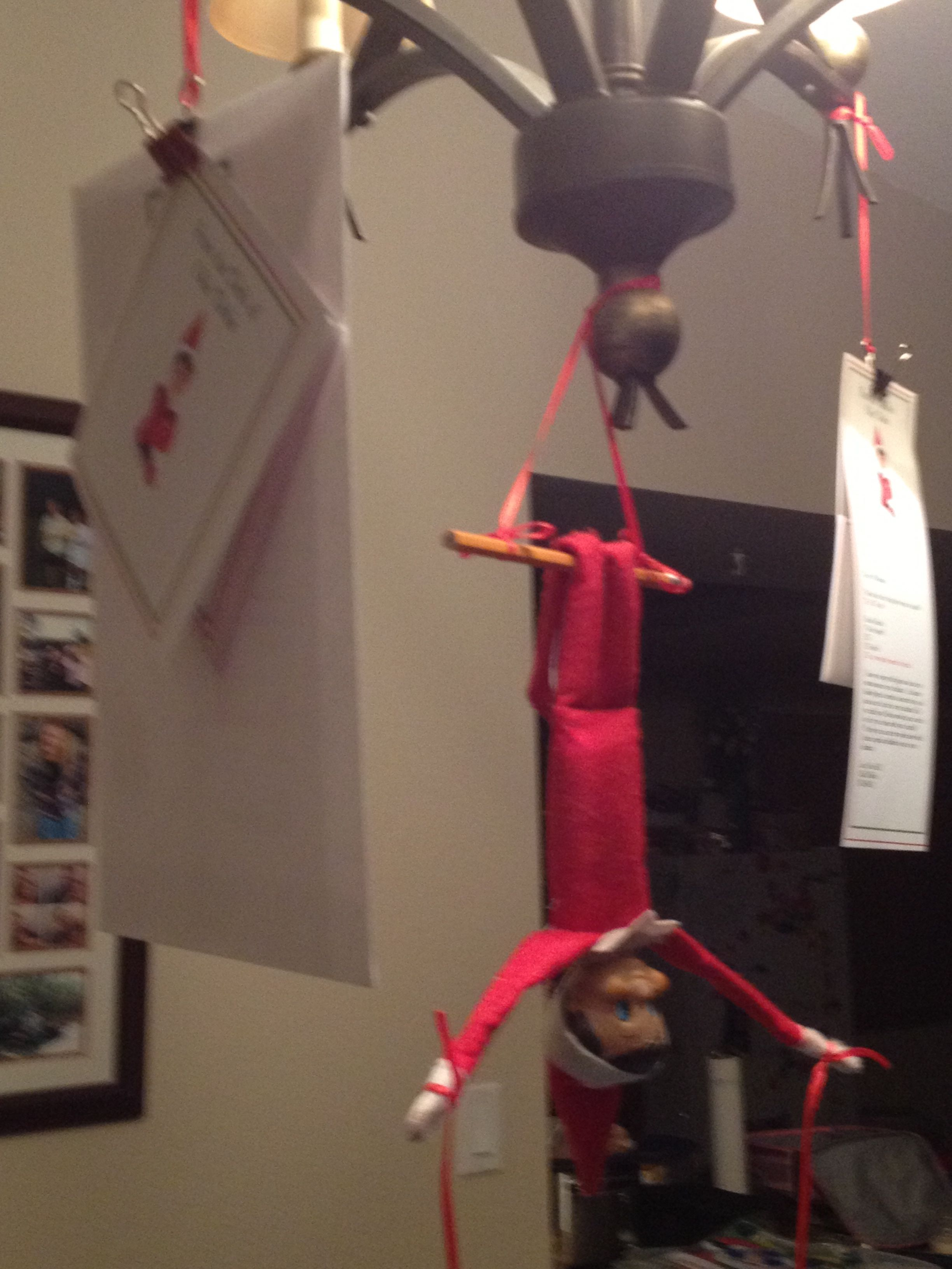 2012 Our Elf On The Shelf Was Hanging From Dining Room