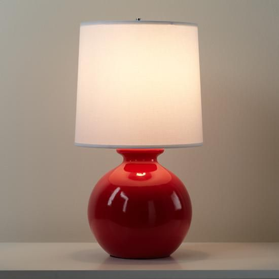 Gumball Lamp Red Lamp Red Table Lamp Table Lamp