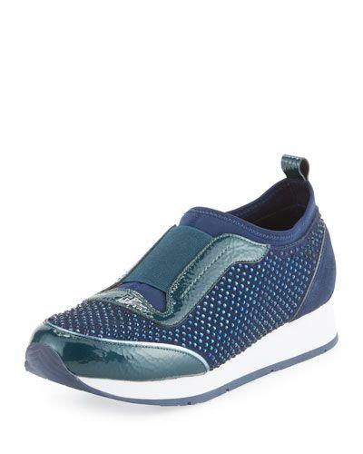 Ryley Crystal Slip-On Sneaker, Ocean
