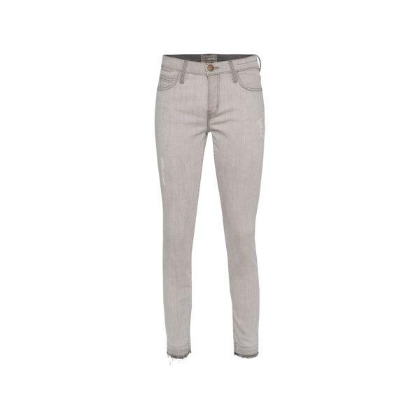 CURRENT/ELLIOTT The Stiletto Dillon Released Hem Skinny jeans with... (16.195 RUB) via Polyvore
