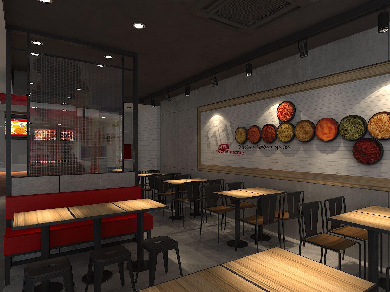 Interior_03 KFC Cambodia_Monivong Pinterest KFC