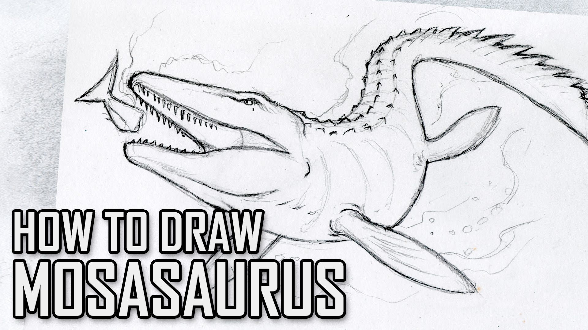 How To Draw Mosasaurus From Jurassic World Tutorial Tuesday