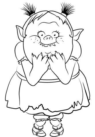 Bridget From Trolls Paginas Para Colorir Desenhos Para Colorir