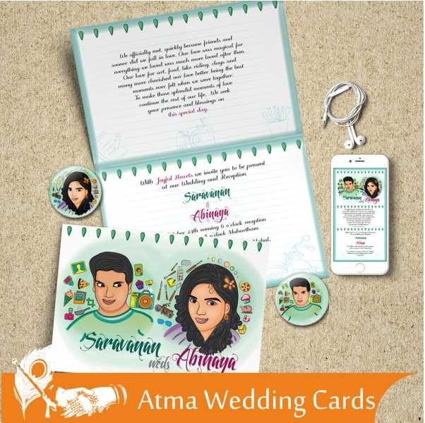 Product Atma Studios Wedding Card 4 Category Caricature Indian - fresh wedding invitation card on whatsapp