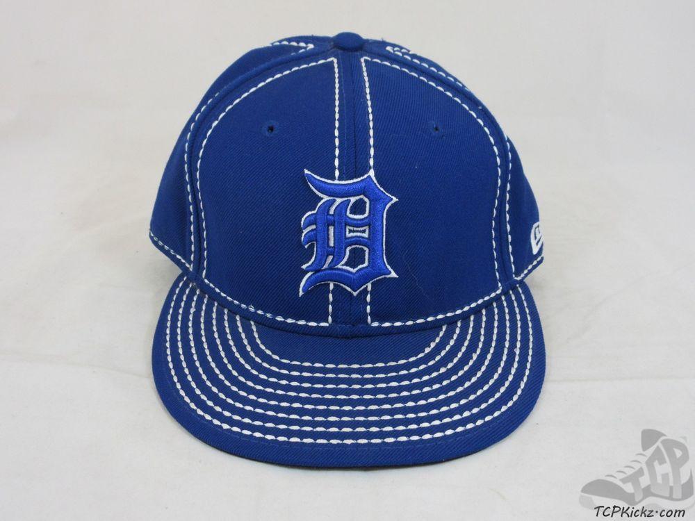 49392a4a9c665 Mens New Era 59 50 Fifty Detroit Tigers MLB Fitted Baseball Hat Cap AL sz 7