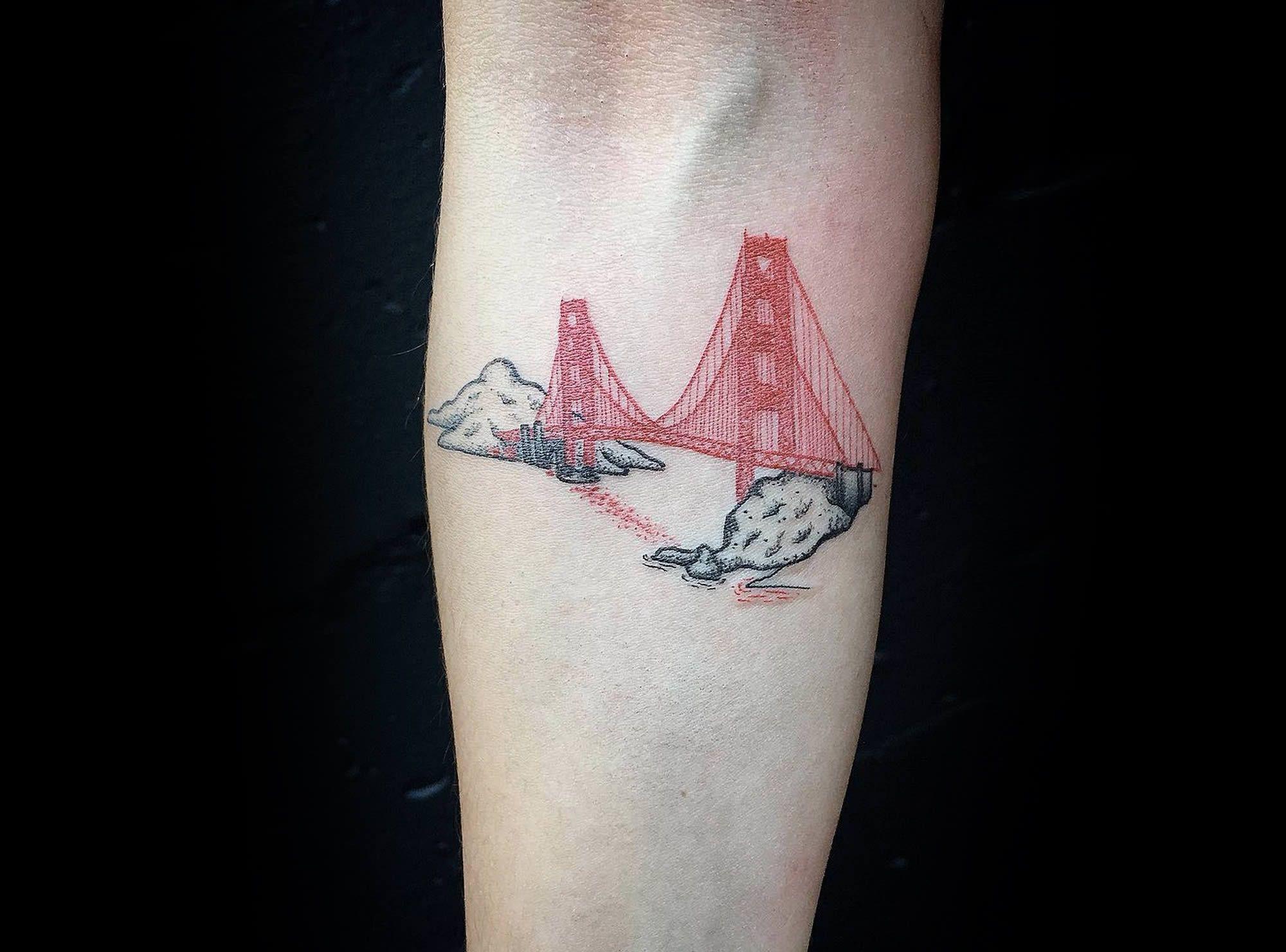 Single Needle Tattoos Single Needle Tattoo Bridge Tattoo Tattoos