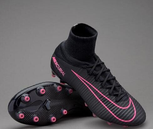reputable site 660f1 7bb16 Discount Nike Kids Mercurial Superfly V AG Pro Football Boots - Black Pink  Blast
