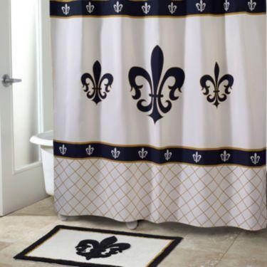 Avanti Luxembourg Fleur De Lis Shower Curtain