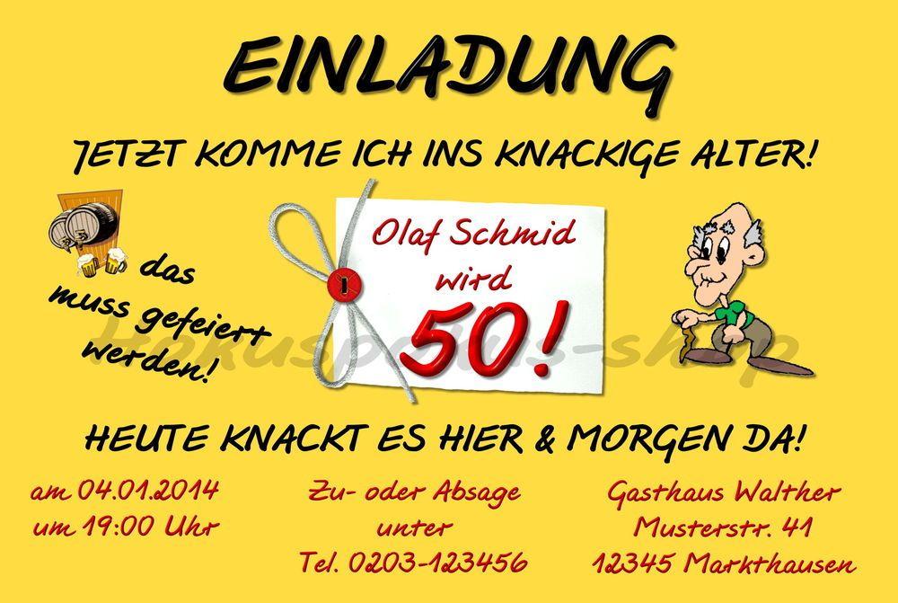 Witzige Einladungskarten Fur 50 Geburtstag