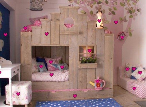 Kinderkamer Behang Vogelhuisjes : Vogelhuisjes bed girls room vogelhuisjes kinderen