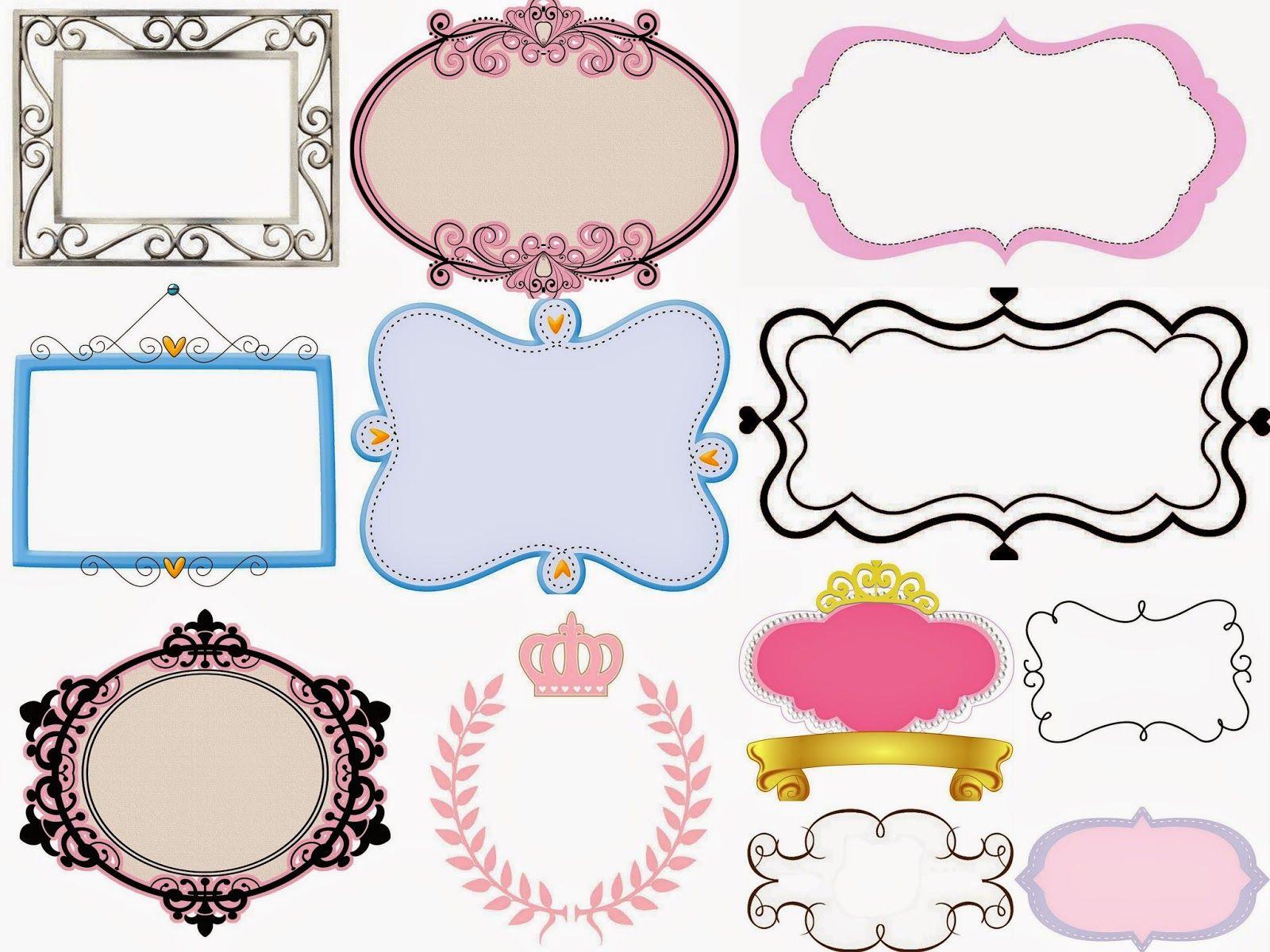 Fiesta de princesas marcos toppers o etiquetas para for Logos para editar