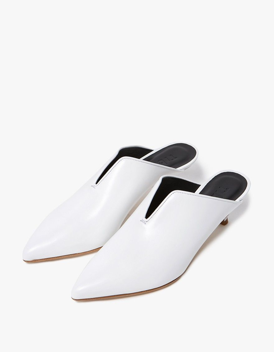 store online outlet footlocker finishline Tibi Pointed-Toe Leather Mules quality free shipping outlet JyYIdq
