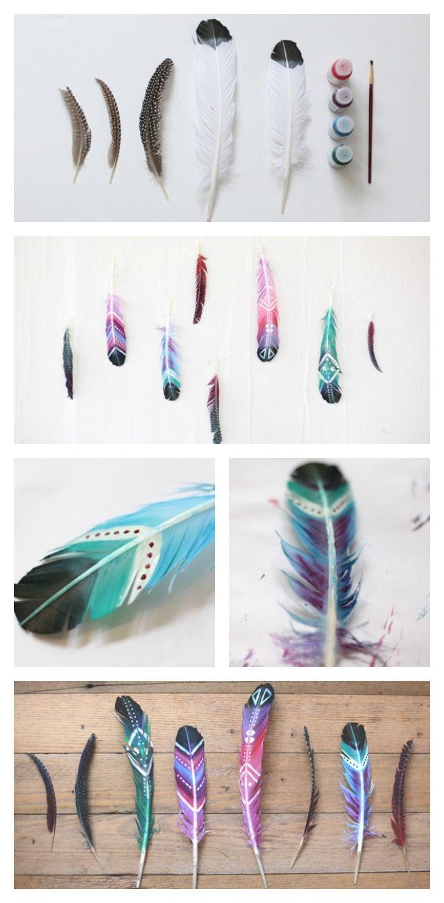 Diy pintar plumas y usarlas para decorar x4duros for Plumas para decorar