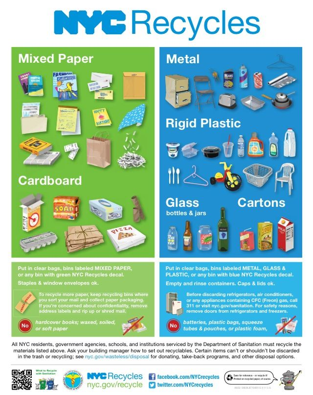 Nyc Now Recycles All Rigid Plastics This Includes Yogurt Cups And Salad Containers Recycling Window Envelopes Bottles And Jars