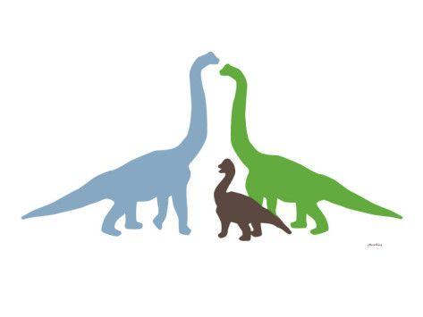 For the kids' play room. Dinosaur Art.