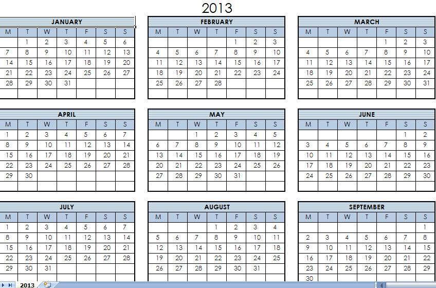 2013 Printable Calendars Favorites Pinterest Printable Calendars