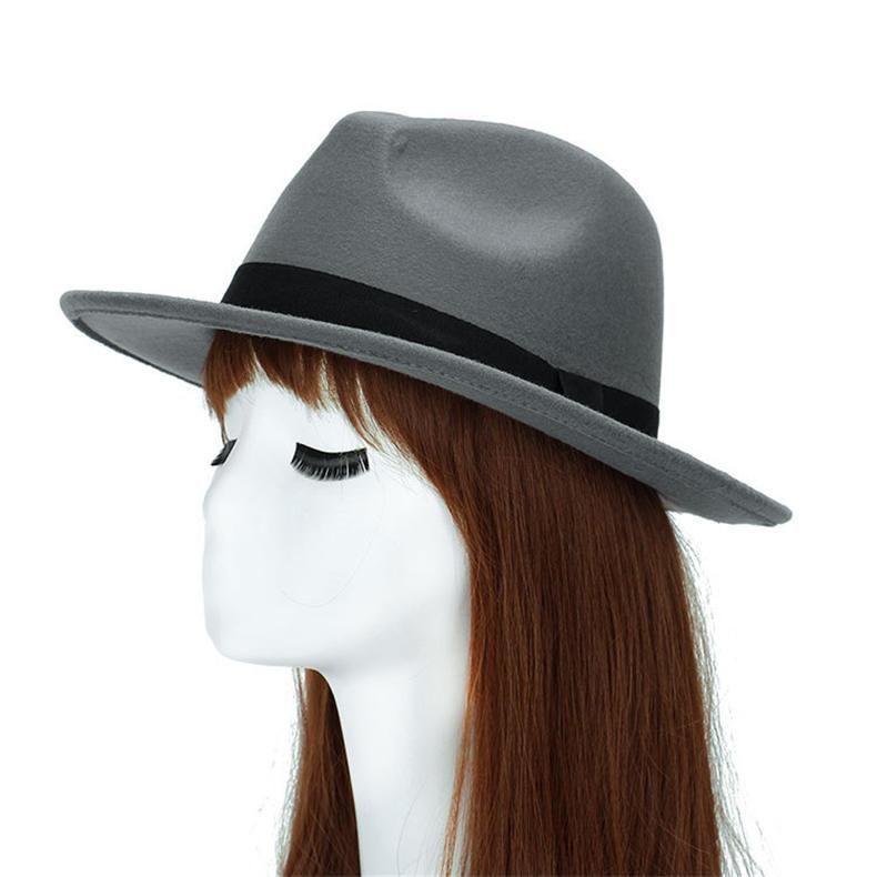 06c40f6b29b Autumn Wide Brim Vintage Wool Felt Hats for Women  HatsForWomenVintage