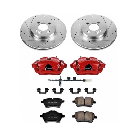 Power Stop Front Rear Brake Kit With Drilled Slotted Rotors And Ceramic Brake Pads K15247dk 26 In 2020 Ceramic Brake Pads Ceramic Brakes Brake Pads