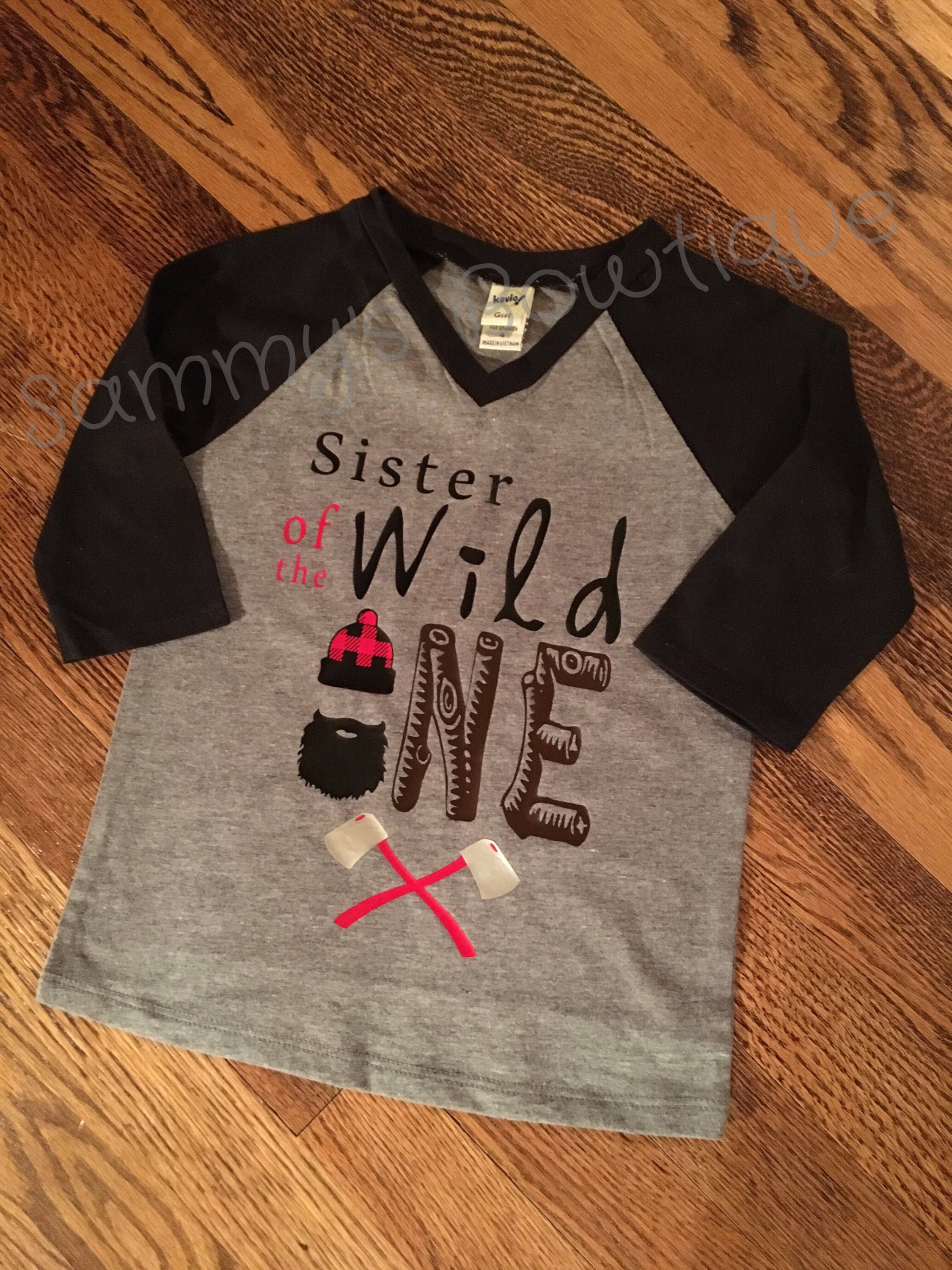 49bbf81f Excited to share the latest addition to my #etsy shop: Sister of Wild One  first Birthday shirt, wild one lumberjack Birthday, First Birthday shirt  boy, ...