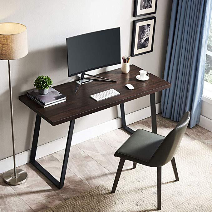 Amazon Com Amoak Computer Desk 55 Modern Writing Desk Simple